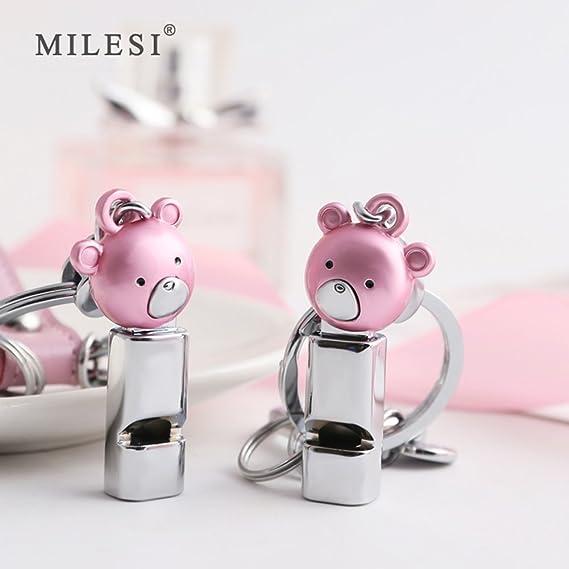 Amazon.com: Milesi Lovely silbato oso mosquetón llavero ...