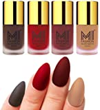 MI FASHION Nail Polish Shades, 9.9ml (Pack of 4)