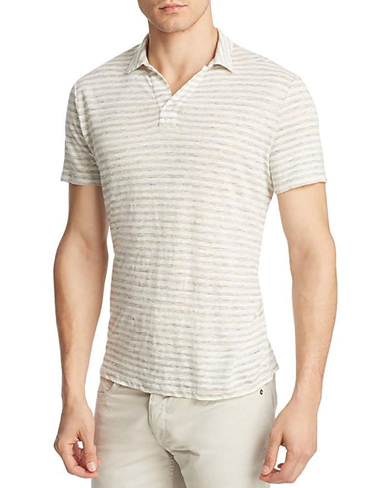 Amazon Vince Linen Feeder Stripe Regular Fit Polo Shirt 988