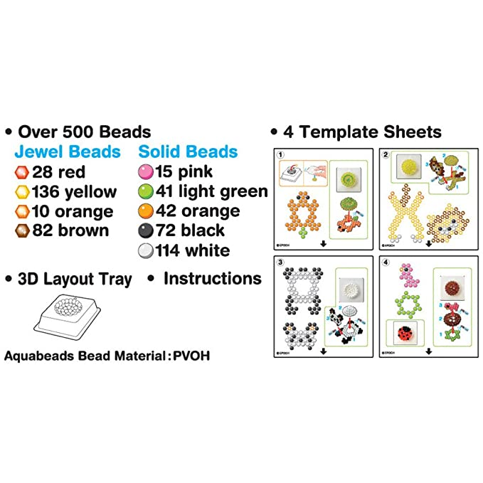 Aquabeads AB D Animal Set Amazoncouk Toys Games - Aquabeads templates