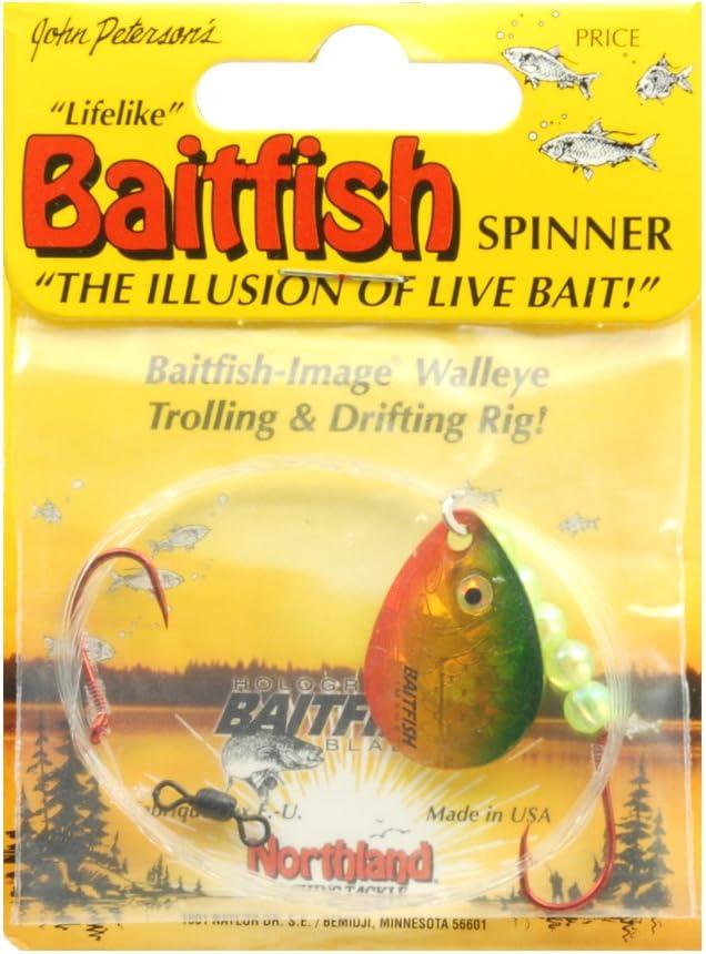 Four Northland Baitfish #4 Colorado Clown Blades