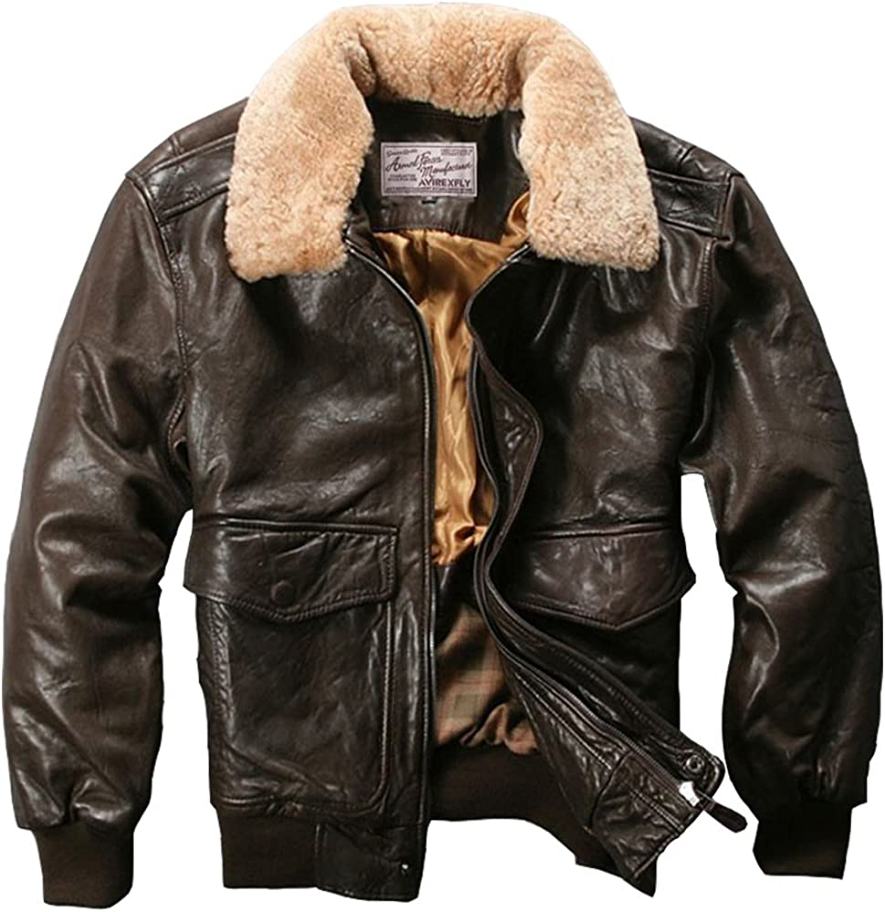Avirex fly Jacket - Chaqueta de Piel de Oveja para Hombre