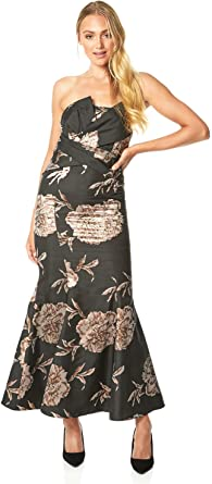 Ladies V-Neckline Sleeveless Midi Length Going Out Occasion Flowers Pretty Roman Originals Women Floral Print Asymmetric Dress