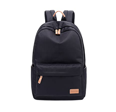 97e252de94db Amazon.com  Teecho Waterproof Classical School Backpack for Teenagers  Casual Daypack for Women Black  Toys   Games