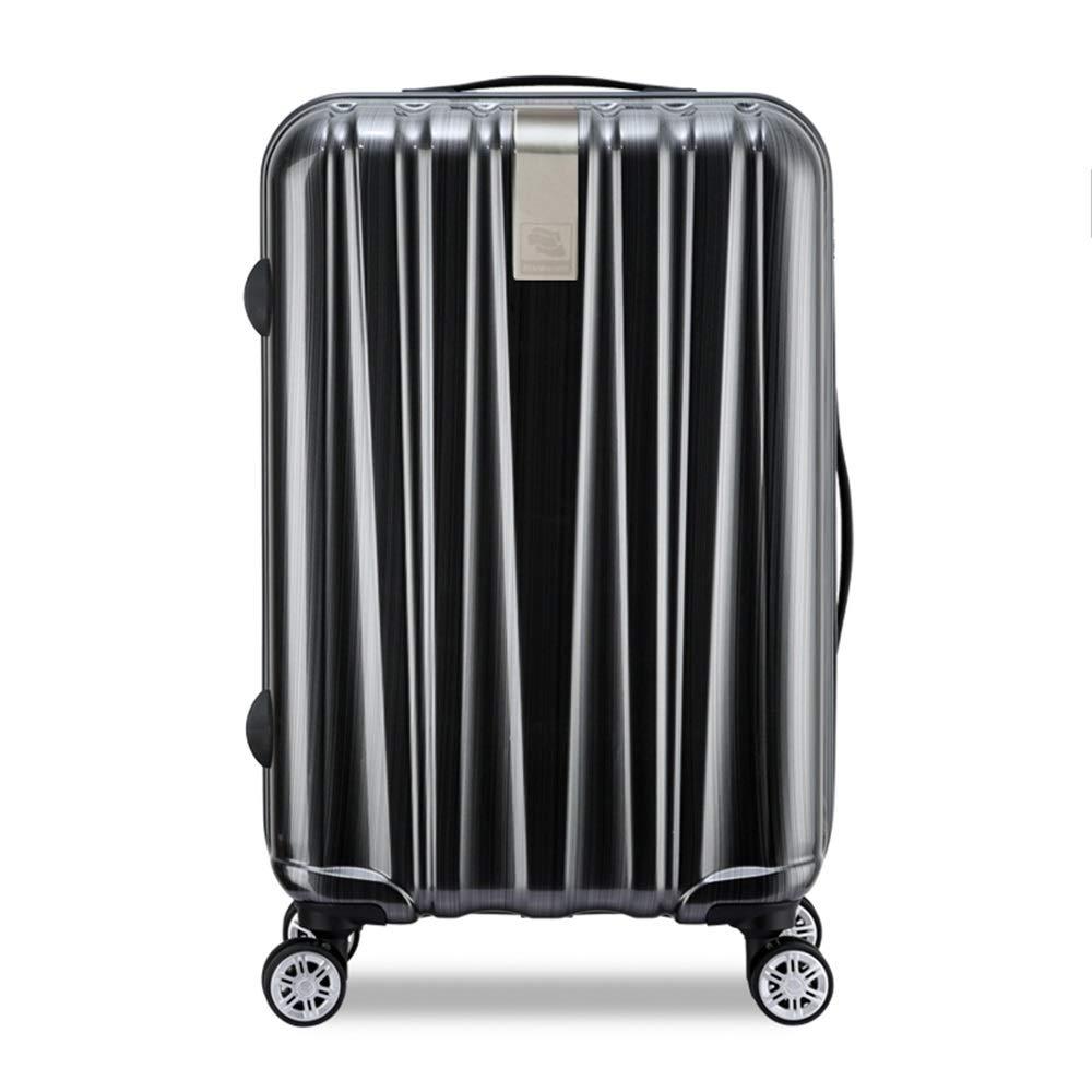 トロリーケース - 起毛金属、スマートストレージ、TSAコンビネーションロック、アルミ合金レバー、サイレントキャスター、出張や短期間のビジネス旅行に適した、3サイズあり (色 : 黒, サイズ さいず : 33*24*49cm) B07MNLM1ZD 黒 33*24*49cm