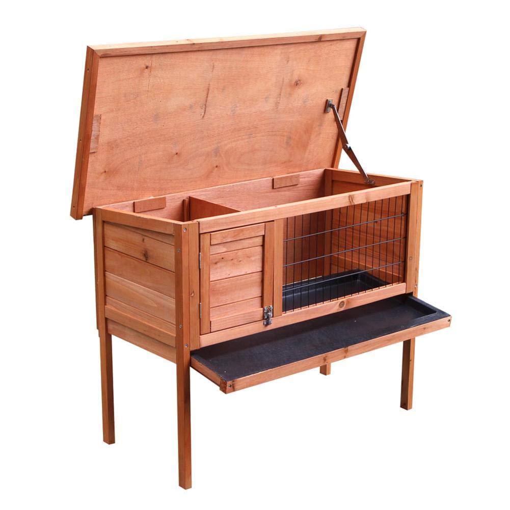 Oshide Waterproof Wooden Chicken Coop Hen House Pet Animal Poultry Cage Rabbit Hutch