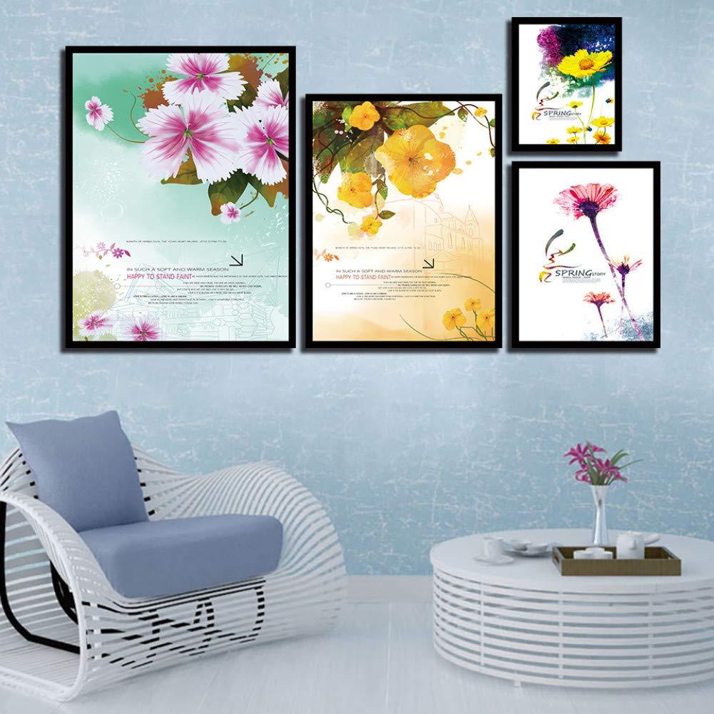 XSHUHANP Impresión sobre Lienzo Estilo Nórdico HD Flores ...