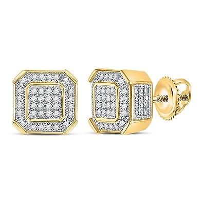 6de95d3c2cb8 Jewels by Lux - Pendientes de oro amarillo de 10 quilates para hombre