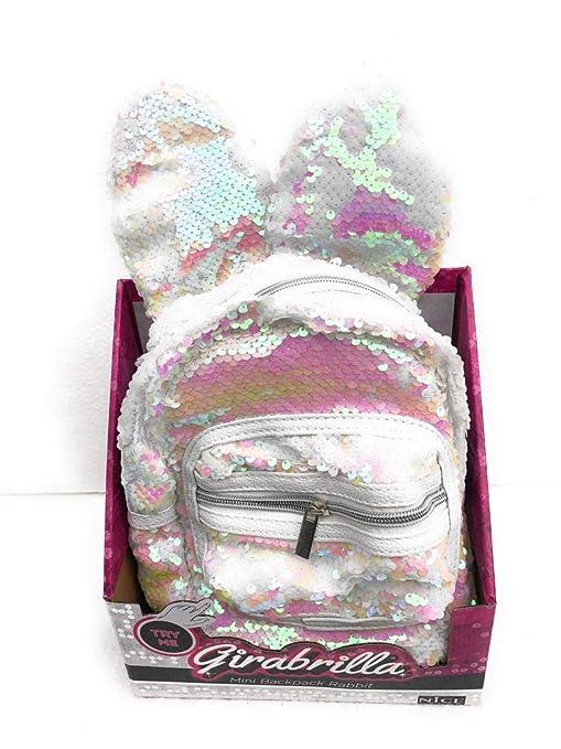 aspetto dettagliato b032a 23107 Girabrilla Mini backpack Rabbit Zaino con orecchie colore Bianco di Nice