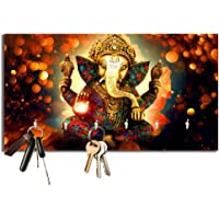 Studio Shubham Ganesh Ji Wooden Key Holder (23.4cm X 12.8cm X 3cm)