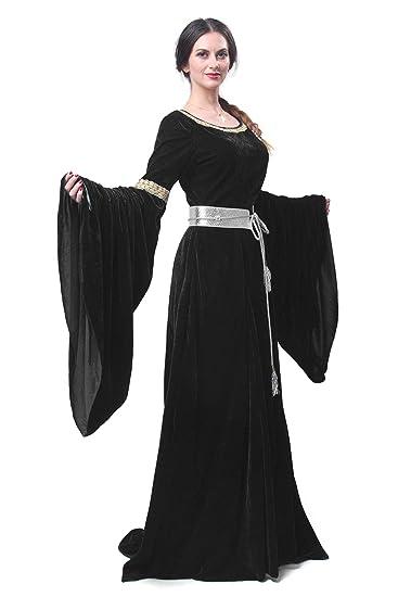 Amazon.com  Renaissance Medieval Dress Nuoqi Women s Victorian Gown Costume  Long Dress  Clothing 89e58e8e1fca