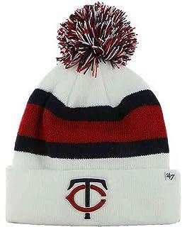 1d587d2b583  47 Brand Breakaway Cuff Beanie Hat with POM POM - MLB Cuffed Winter Knit  Baseball.