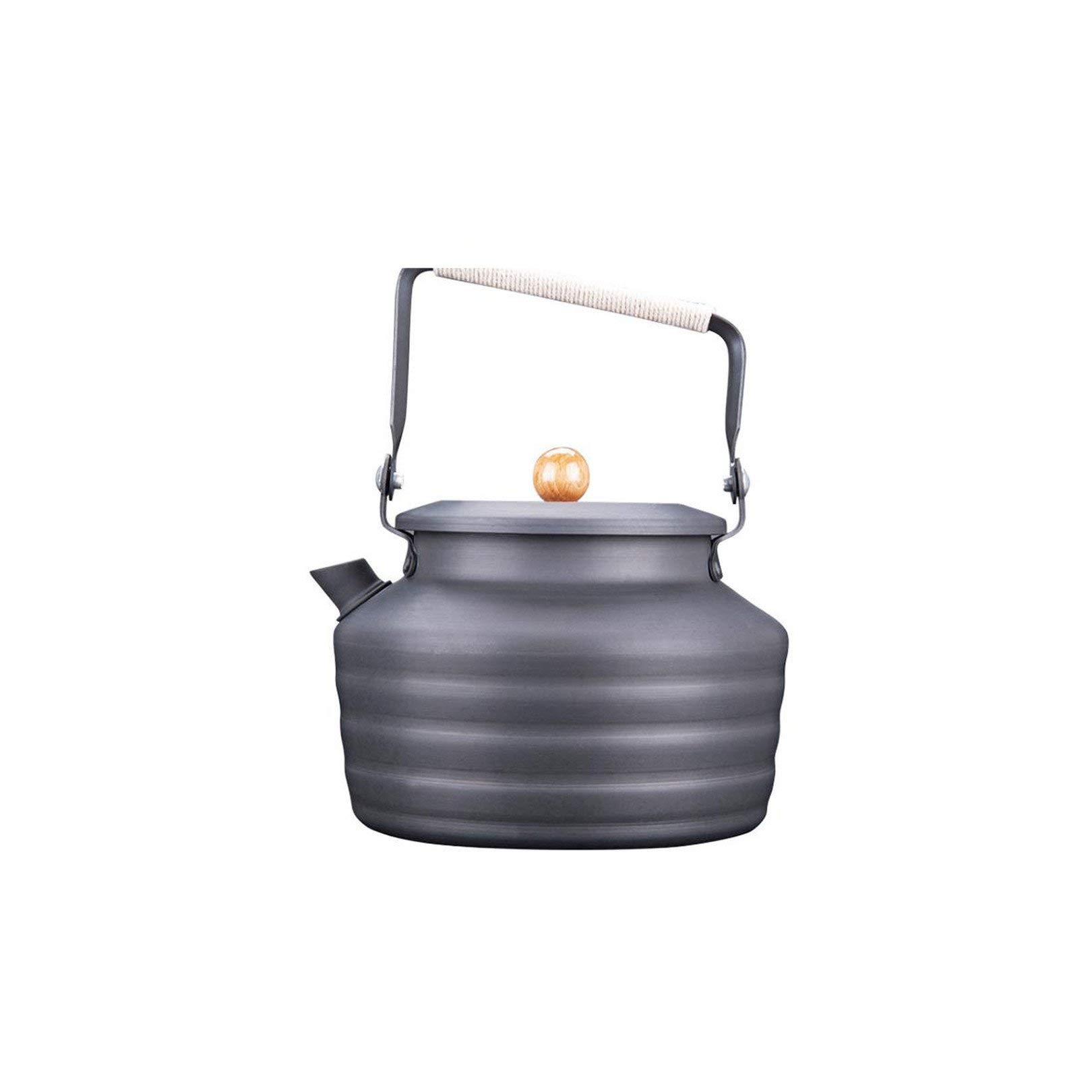 Coffee-Percolators 1.3L Portable Ultra-Light Outdoor Hiking Camping Picnic Water Kettle Teapot Coffee Pot,Black