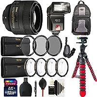 Nikon AF-S FX NIKKOR 50mm f/1.8G Lens with Auto Focus for Nikon DSLR Cameras with TTL / iTTL Shoe Mount Flash and Accessory Kit