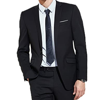 0d4ab77f857 JEAREY Mens Blazer Casual Slim Fit Lapel Suit Jacket One Button Daily  Business Dress Coat (