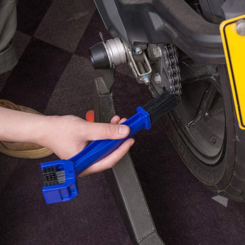 Porotmotor Motorcycle /& Bike Universal Chain Grunge Cleaning Brush//Tool For Honda Kawasaki Suzuki Yamaha DirtBike MX Steet Sport Off-Road Motorcycles ATVs Quad Bicycles 2 PACK-Red and Blue
