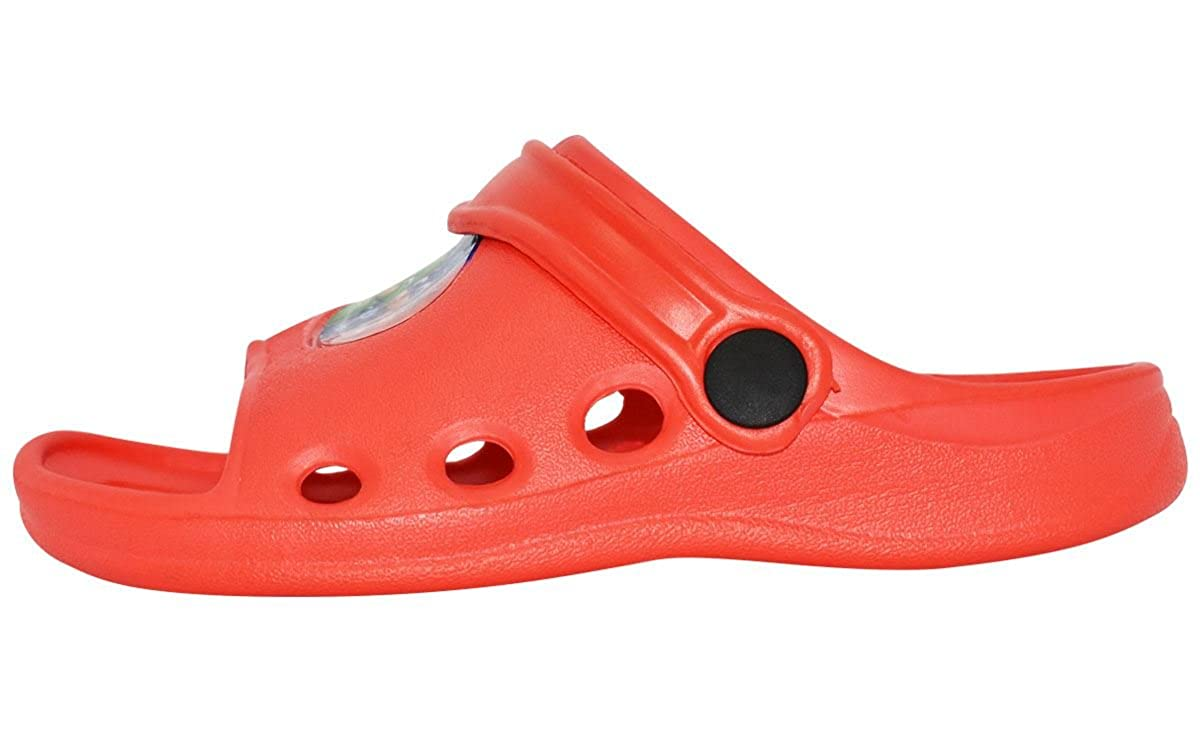 Boys P J Masks Red Open Toe Beach Holiday Sandals Clogs Mules Slip On Various Sizes