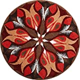 Cheap Grund Designer Series Accent/Bath Rug, Passion, 48-Inch by 48-Inch, Red/Brown