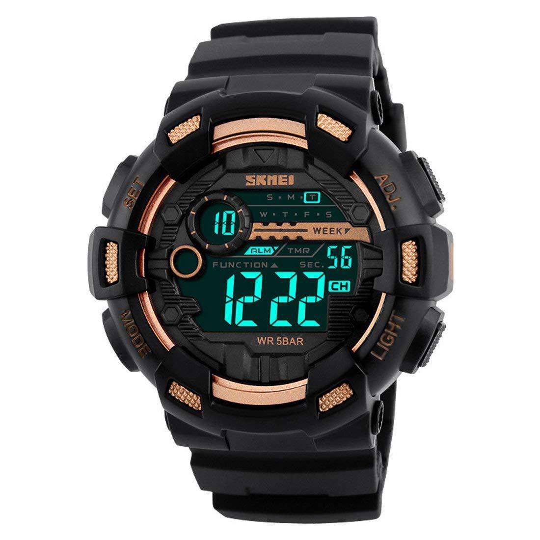 Skmei Reloj Negro Hombre Digtial Al Aire Libre G Style Cronómetro Deportivo Militar Reloj de Pulsera de Marca rapa Hombre Teenager