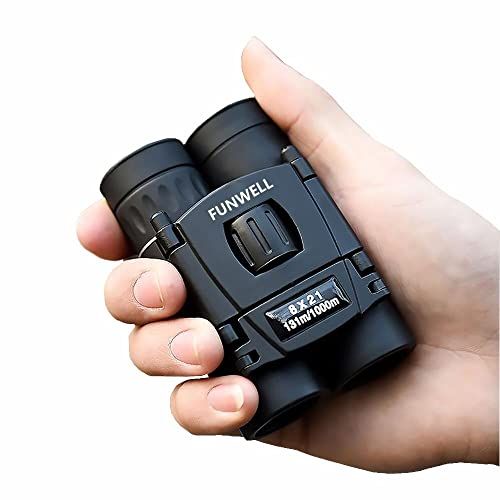 Mini Compact Lightweight 8x21 Small Binoculars for Concert Opera Sports Game Outdoors Hiking Travel Kids Bird Watching Christmas Gift