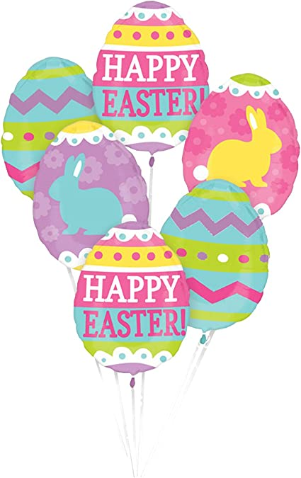 Happy Easter Balloon Easter Egg Design /& Shape Easter Party Decoration