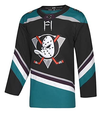 adidas Anaheim Ducks Black Teal Alternate Authentic Blank Jersey (44 XS) 958f3ca7bdb9