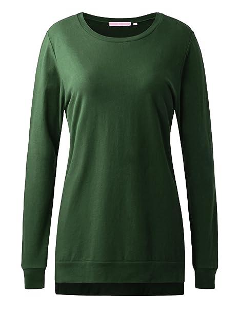 1X-3X Women/'s Solids Ruffle Hem Soft T-Shirt Long Tunic Top 3//4 Sleeve Basic