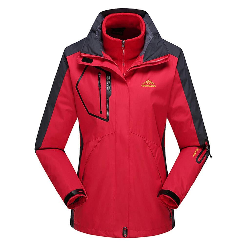 AiNaMei Frauen-Outdoor-Jacken sowie samtgefüllte Skianzüge für Bergsteiger