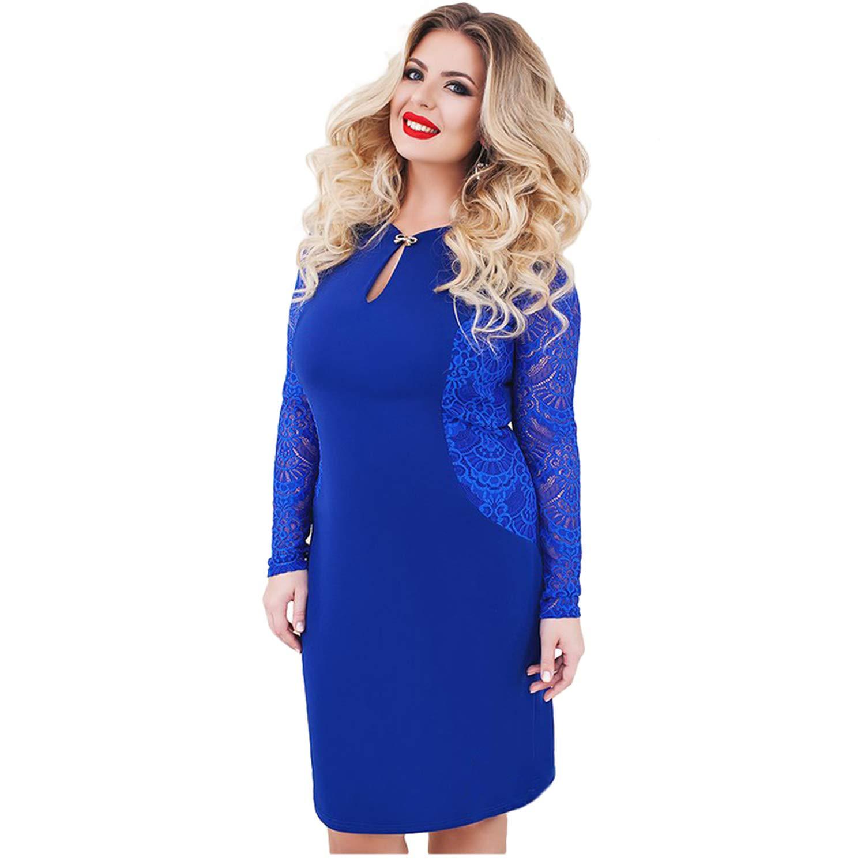 4202f01dcc GDFV86D 6XL Sexy Blue Lace Dress Women Plus Size Dresses Large Size ...