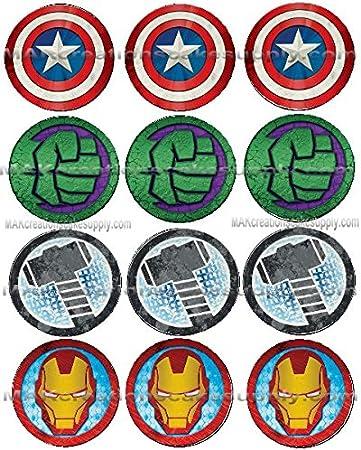 Amazon.com: Marvel s Avengers Icon con licencia comestible ...