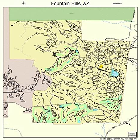 Amazon.com: Large Street & Road Map of Fountain Hills ...