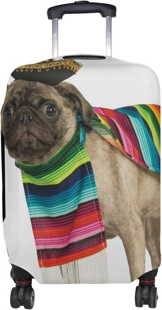 LEISISI Mexican Pet Dog Wearing Costume Protector Cover Elastic Suitcase Cover Luggage Cover Protector XL 31-32 inch