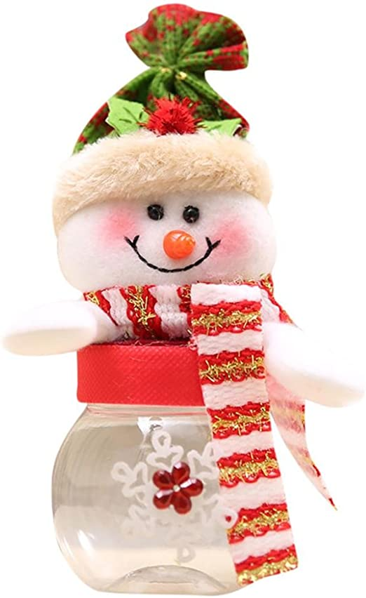 Set//2 Snowman Polymer Clay Xmas Tree Ornament Peppermint Candy Tree Hat Star New