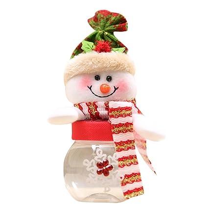 kaicran Candy botella de Papá Noel Muñeco de nieve Navidad Candy Embalaje tarro para dulces de
