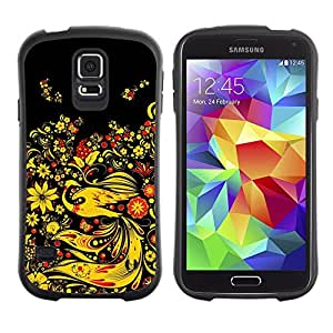 LASTONE PHONE CASE / Suave Silicona Caso Carcasa de Caucho Funda para Samsung Galaxy S5 SM-G900 / Asian Floral Design