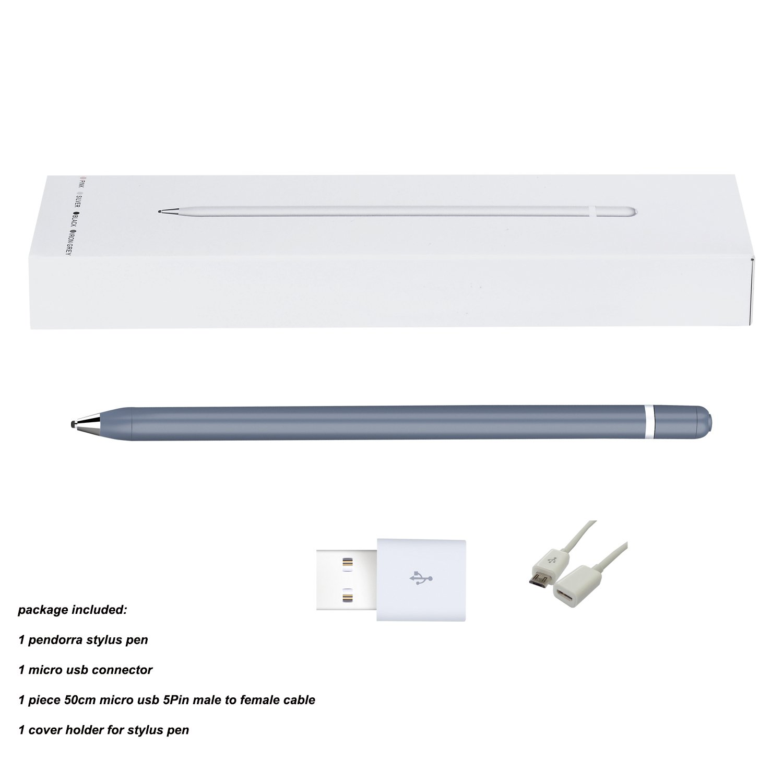 Pendorra - Active Fine Point Precision Stylus Pen Drawing Pencil (Grey)