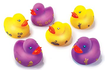 Amazon Com Easter Decorations Light Up 6 Pack Easter Rubber Ducky