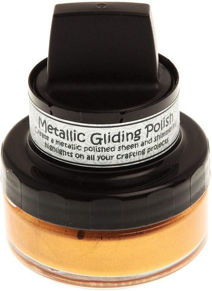 2 Pack Cosmic Shimmer Metallic Gilding Polish-Enchanted Gold