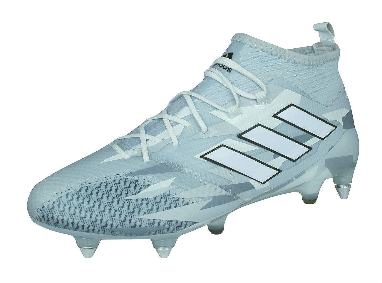 Ace 17.1 Primeknit SG Football Stiefel - Clear Grau Weiß Core schwarz - Größe 7