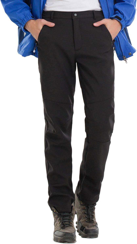 Syrads Hombres Pantalones de Escalada Excursionismo C/ámping Invierno Respirable Espesar Calentar Pantalones de Trekking a Prueba de Viento