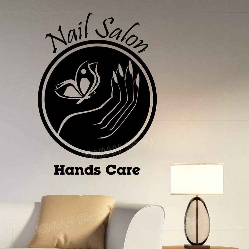wukongsun Nail Salon Logo Applique Vinyl Window Sticker Manicure Decorate para Office SPA Beauty Salon 42cmx57cm: Amazon.es: Hogar