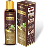 LA Organo Castor Oil - Cold Pressed - For Hair & Skin - No Mineral Oil & Silicone For Men and Women - 200ml
