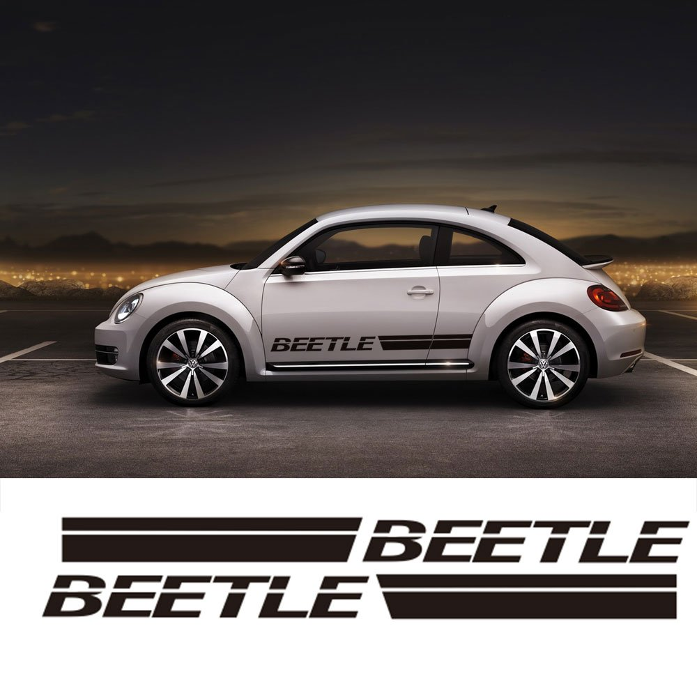 Amazon com for vw beetle for volkswagen beetle car body sticker customizable motorsports door side stripe stickers decal black automotive