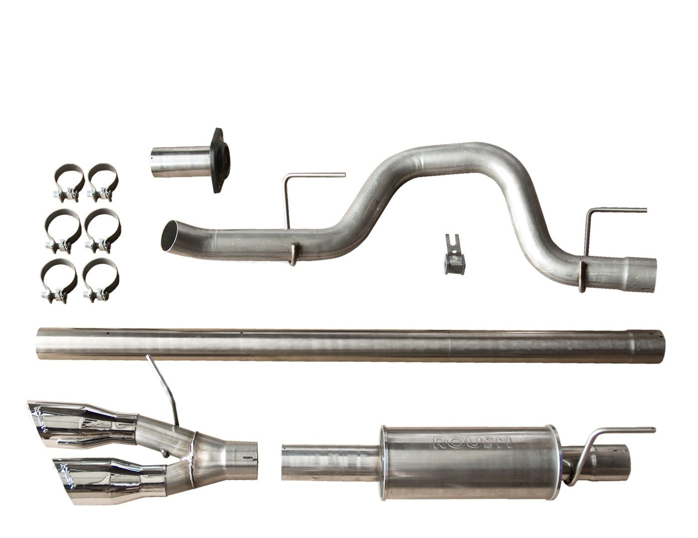 2. Roush 421711 F-150 Cat-Back Exhaust for 6.2L / 5.0L / 3.5L (2011-2014) Side Exit