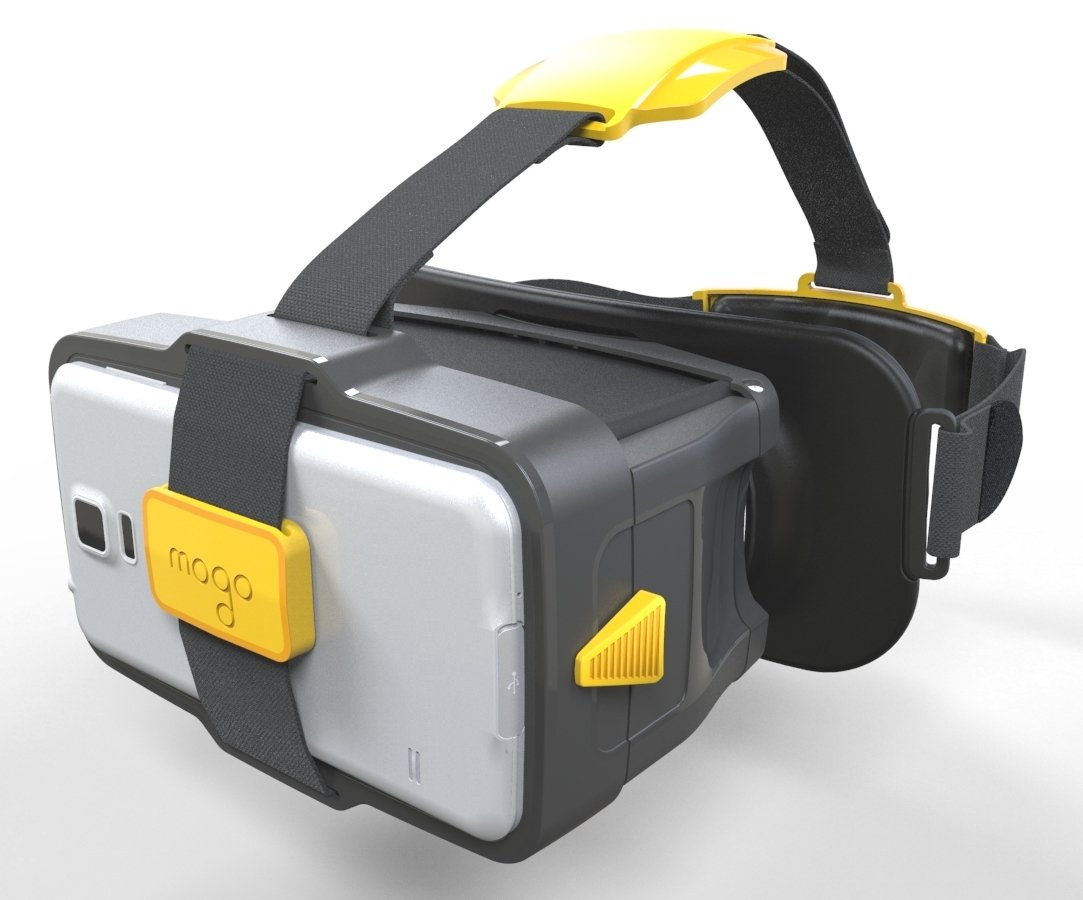 MOGO -Patented New Generation of Virtual Reality Headset for iPhone and Android (Yellow) by MoGo Travel