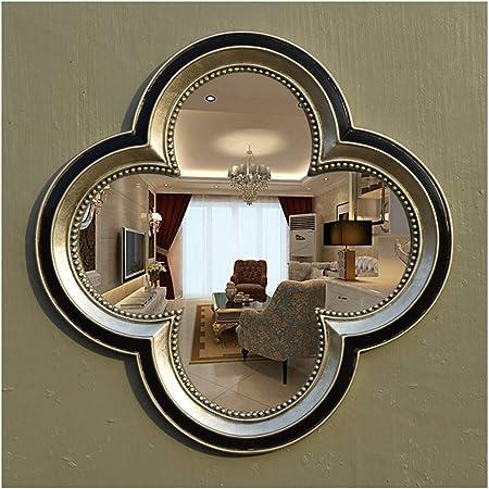 CJW Espejo de vanidad de Oro de jardín Europeo de Lujo para baño Sala de Estar (Color : Silver, tamaño : 67cm): Amazon.es: Hogar