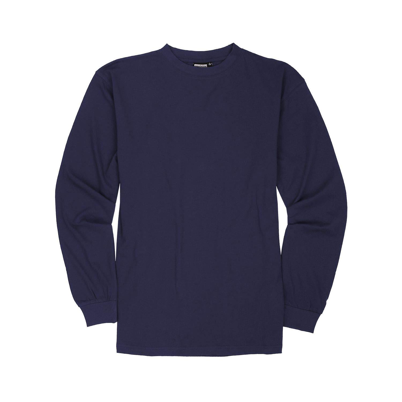 Color Azul Tallas hasta 12XL Camiseta de Manga Larga para Hombre ADAMO Basic