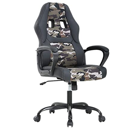 Best Office Chairs For Back Support >> Bestoffice Office Chair Gaming Desk Racing Gaming Chair High Back Computer Chair Task Swivel Executive Seat Leather Chair For Home Office Camo