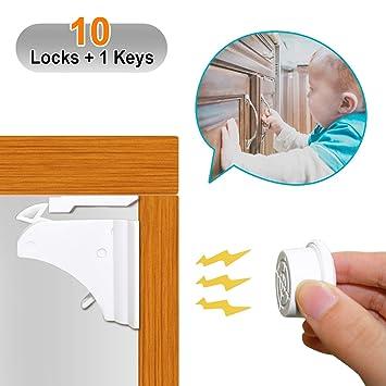 2fae58a41a2e Amazon.com   Magnetic Cabinet Locks - Baby Safety Locks