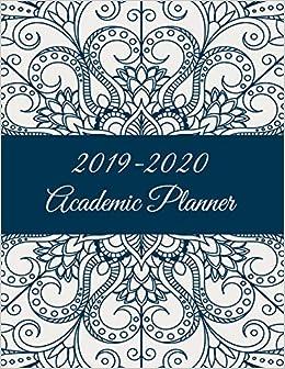 2019-2020 Academic Planner: Art Mandala, 8.5